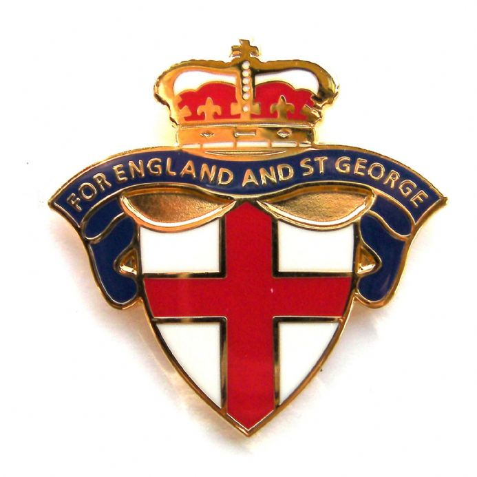 "England Badge - ""For England and St George"" - Blue"